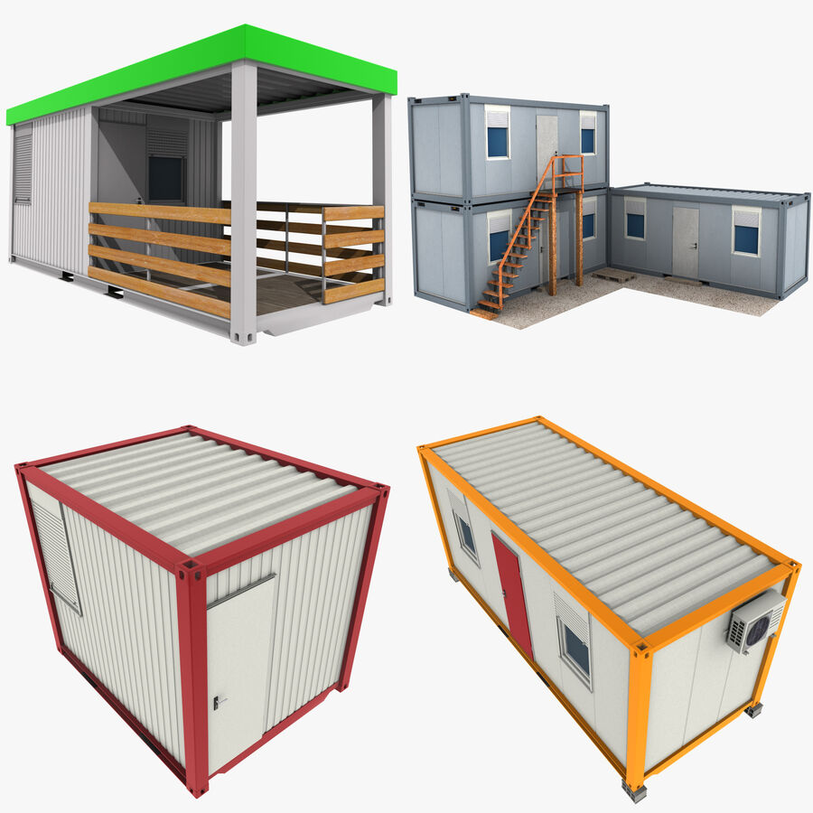 Collezione Mega Container royalty-free 3d model - Preview no. 68