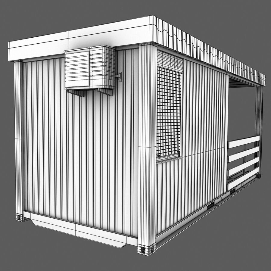 Collezione Mega Container royalty-free 3d model - Preview no. 92