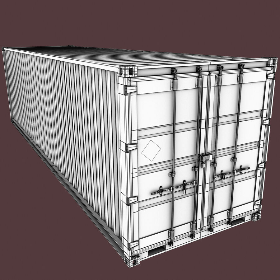 Collezione Mega Container royalty-free 3d model - Preview no. 25