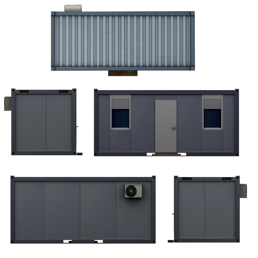 Collezione Mega Container royalty-free 3d model - Preview no. 97