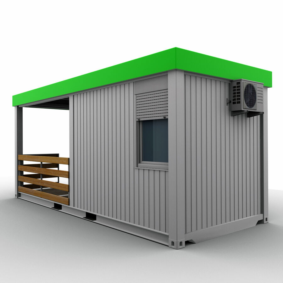 Collezione Mega Container royalty-free 3d model - Preview no. 90