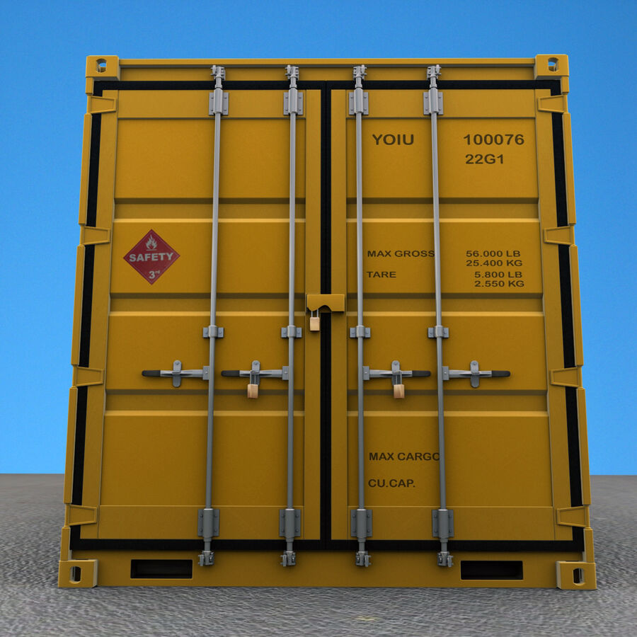 Collezione Mega Container royalty-free 3d model - Preview no. 20