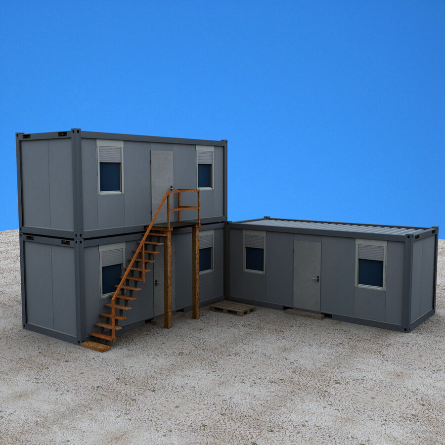 Collezione Mega Container royalty-free 3d model - Preview no. 93