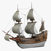 Sailing Ship Mayflower 3d model