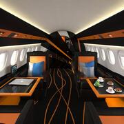 航空機インテリア 3d model