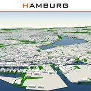 Ville de Hambourg terminée 3d model
