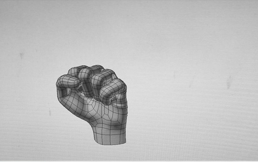 Hand royalty-free 3d model - Preview no. 3