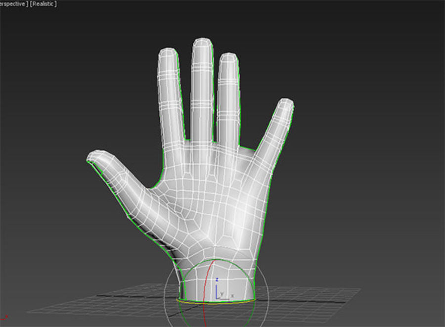 Mano royalty-free modelo 3d - Preview no. 9
