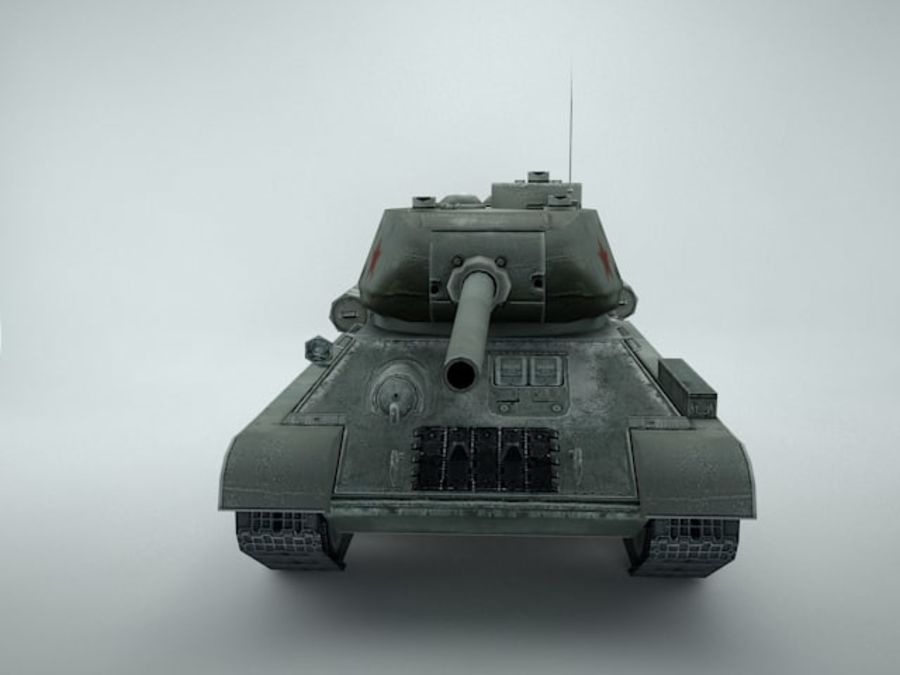 t-34 royalty-free 3d model - Preview no. 7