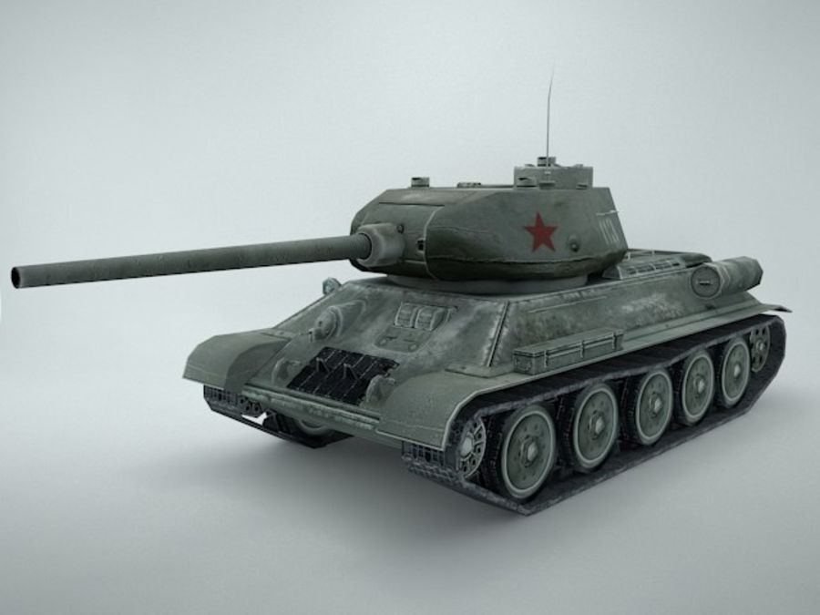 t-34 royalty-free 3d model - Preview no. 1