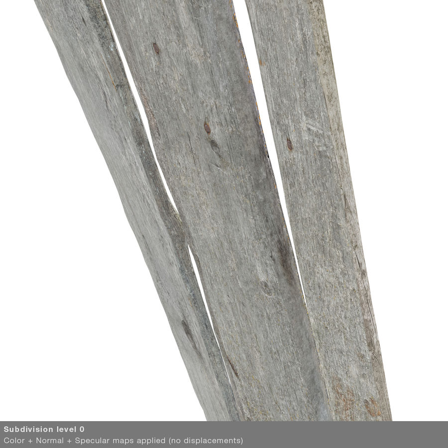 Weathered Planks royalty-free 3d model - Preview no. 41