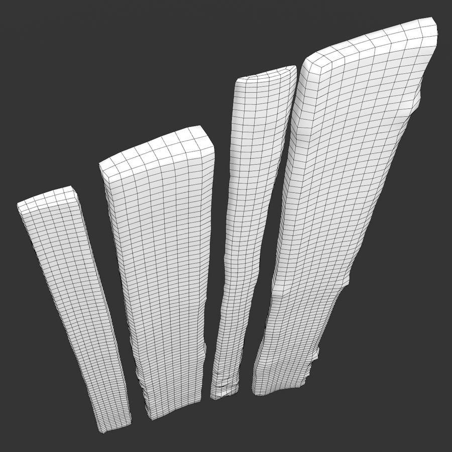 Weathered Planks royalty-free 3d model - Preview no. 45