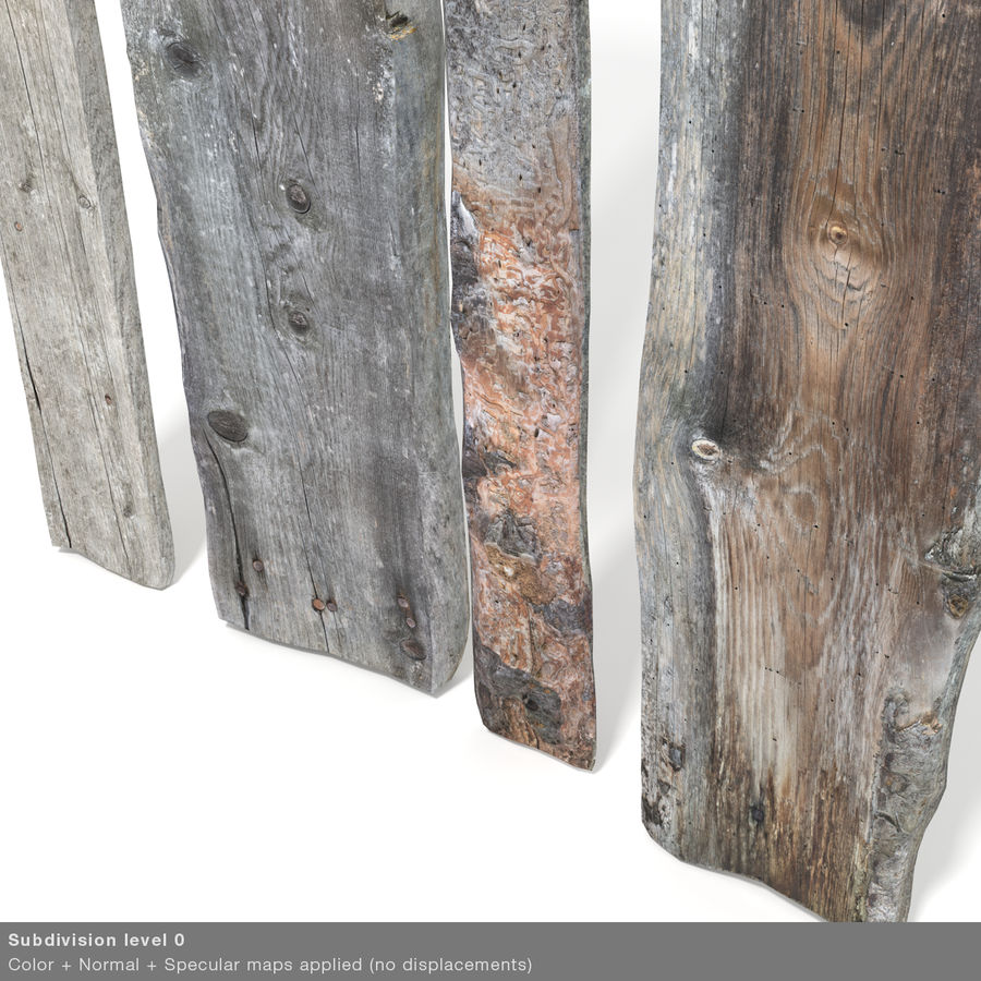 Weathered Planks royalty-free 3d model - Preview no. 38