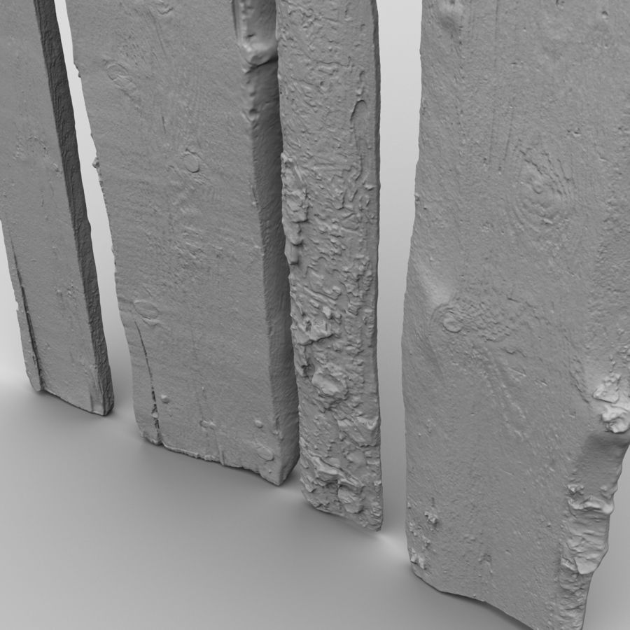 Weathered Planks royalty-free 3d model - Preview no. 25