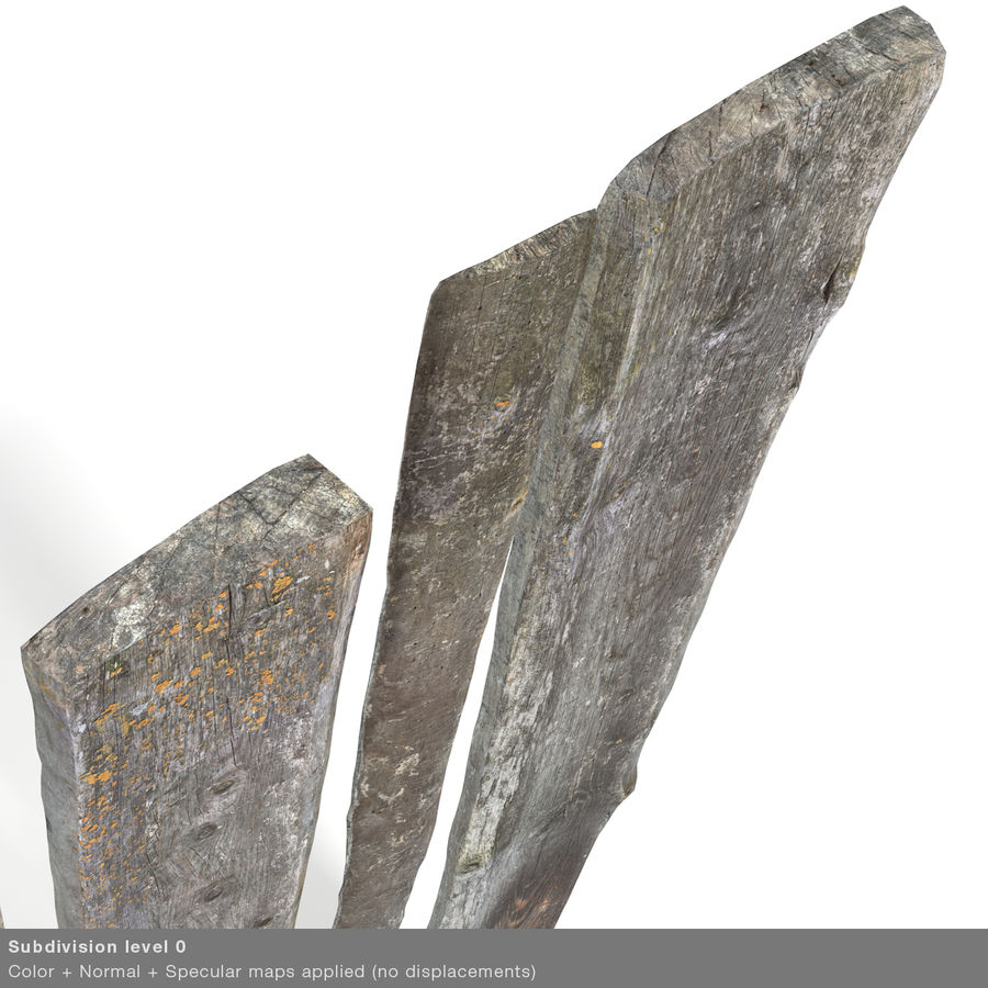 Weathered Planks royalty-free 3d model - Preview no. 39