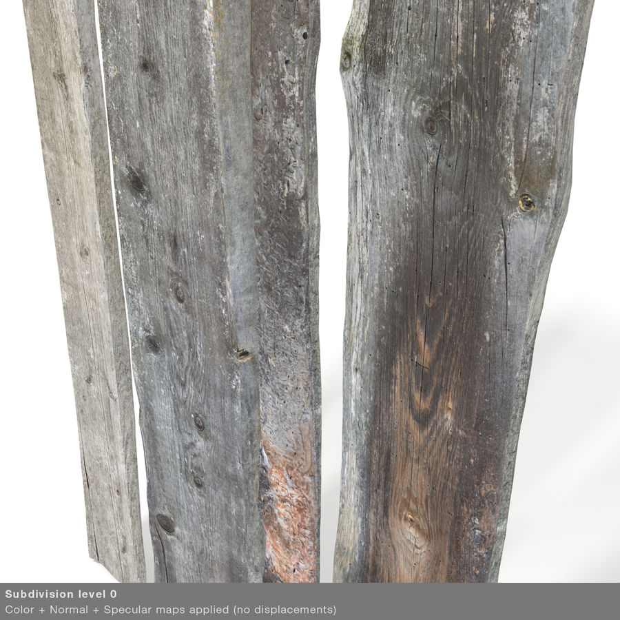 Weathered Planks royalty-free 3d model - Preview no. 37
