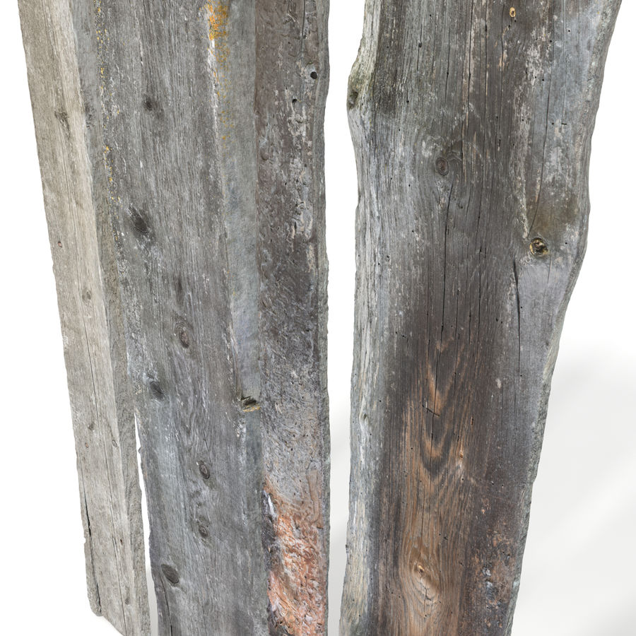 Weathered Planks royalty-free 3d model - Preview no. 11