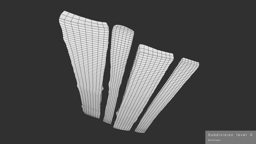 風化した板 royalty-free 3d model - Preview no. 16