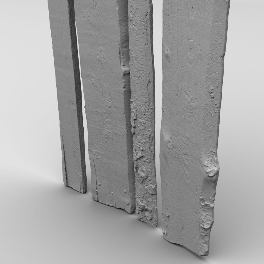 Weathered Planks royalty-free 3d model - Preview no. 21