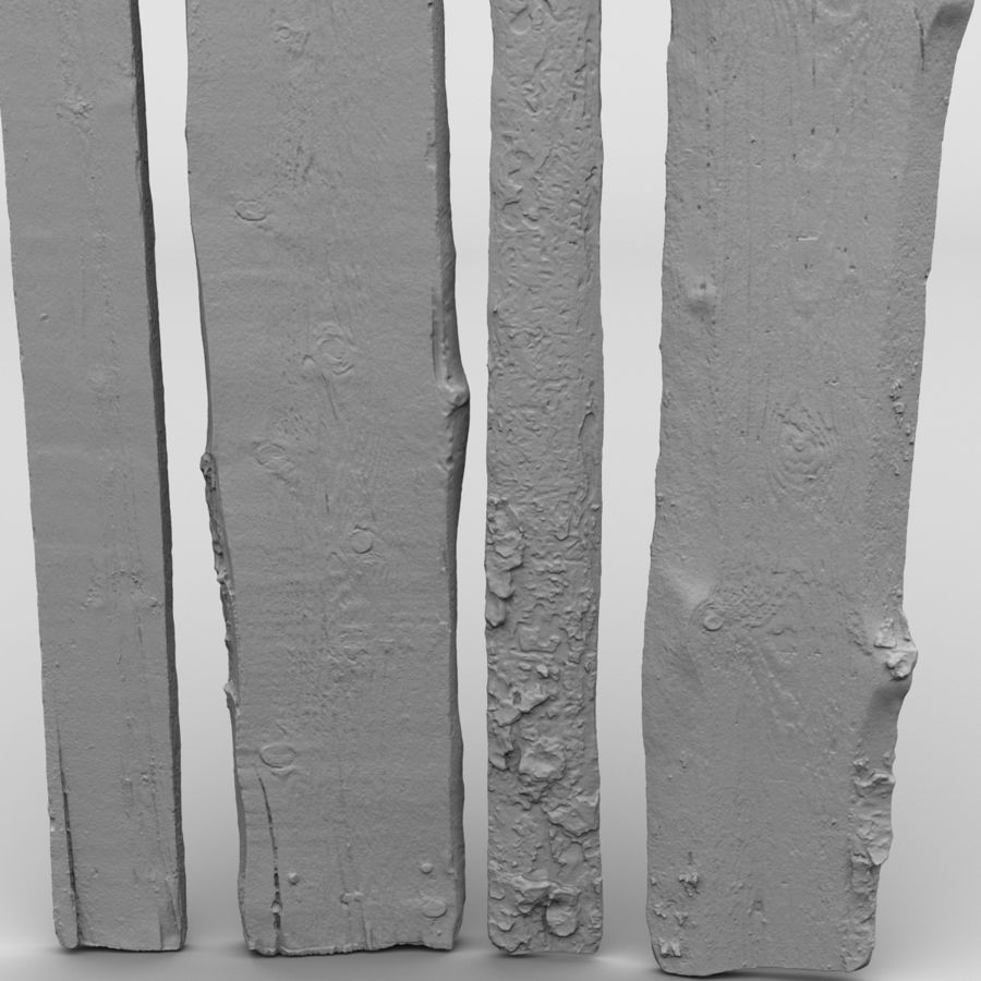 Weathered Planks royalty-free 3d model - Preview no. 19
