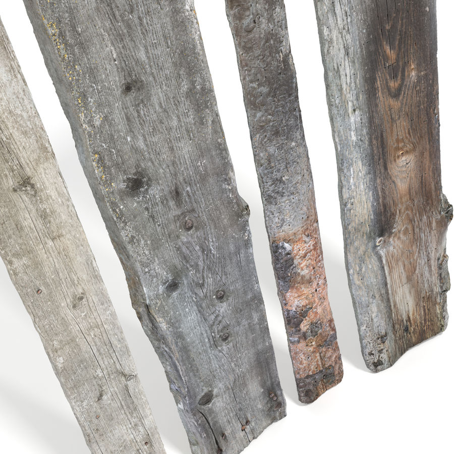 Weathered Planks royalty-free 3d model - Preview no. 10