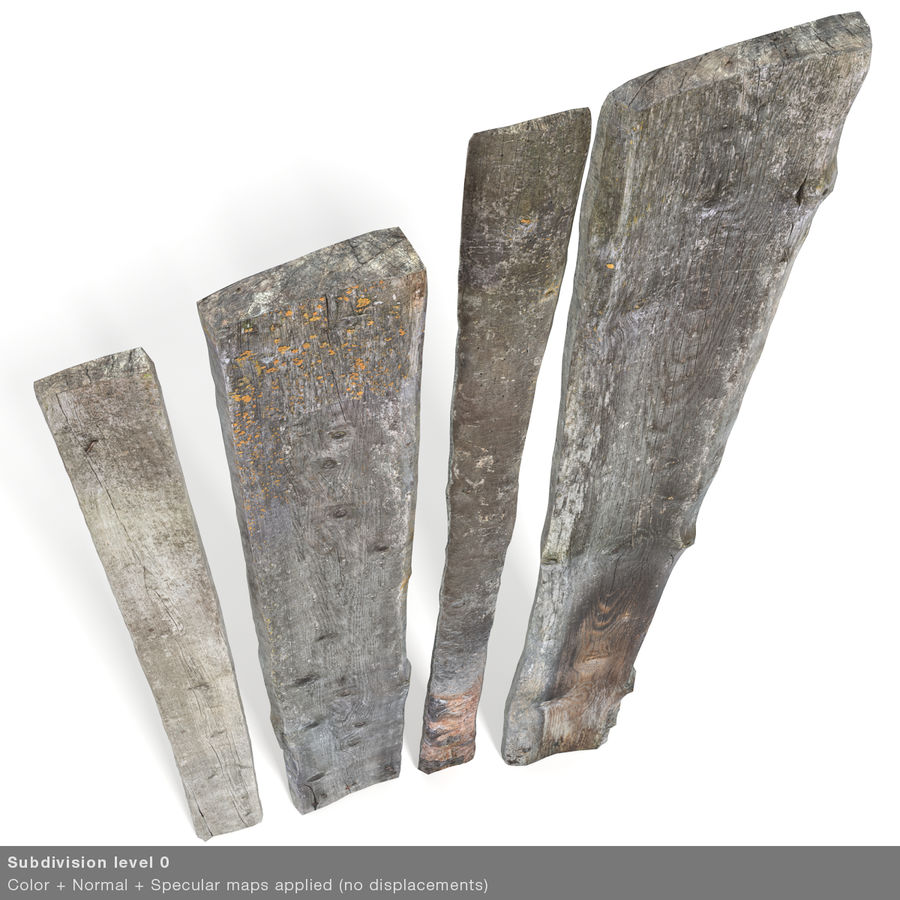 Weathered Planks royalty-free 3d model - Preview no. 30
