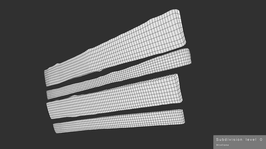風化した板 royalty-free 3d model - Preview no. 19