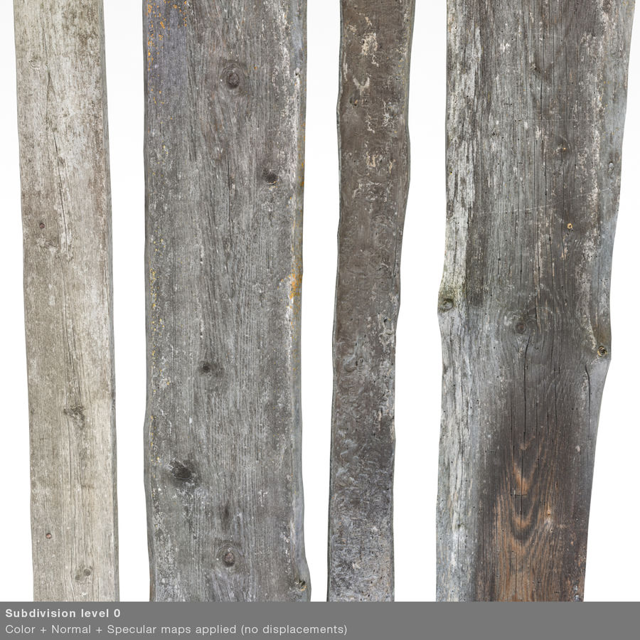 Weathered Planks royalty-free 3d model - Preview no. 28