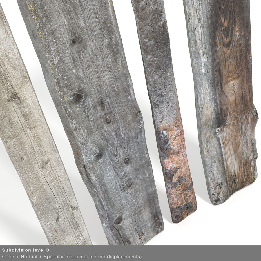 Weathered Planks royalty-free 3d model - Preview no. 35