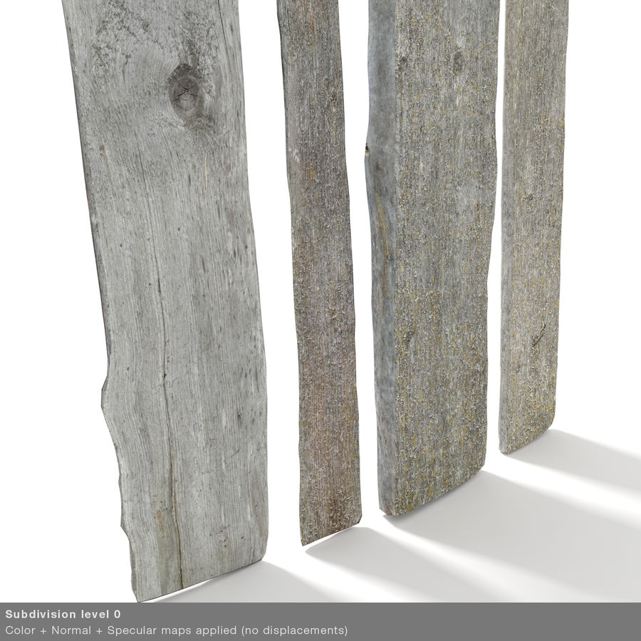 Weathered Planks royalty-free 3d model - Preview no. 33