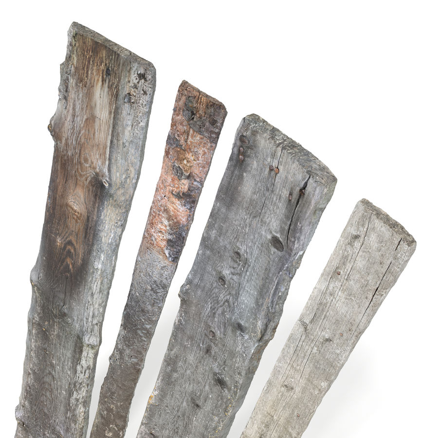 Weathered Planks royalty-free 3d model - Preview no. 16