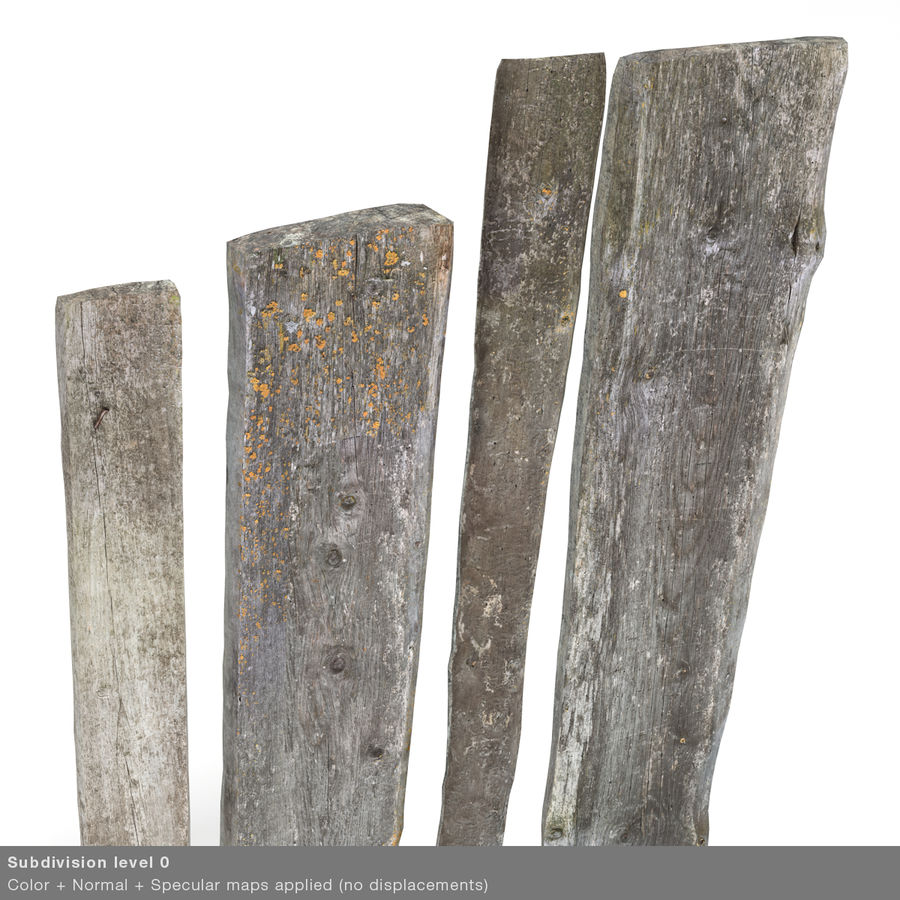 Weathered Planks royalty-free 3d model - Preview no. 27