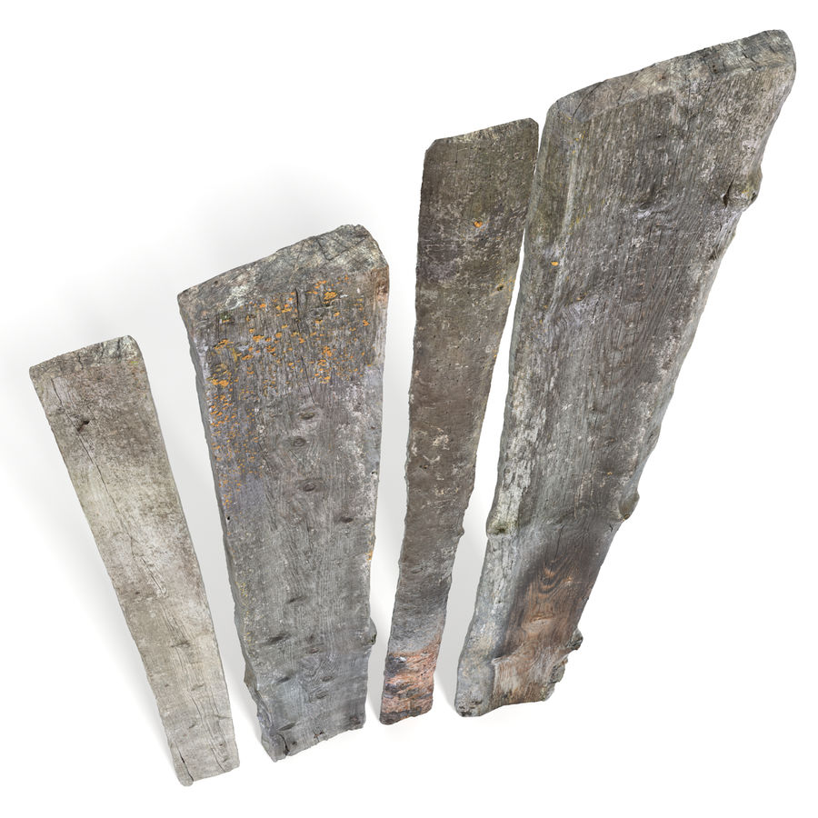 Weathered Planks royalty-free 3d model - Preview no. 2