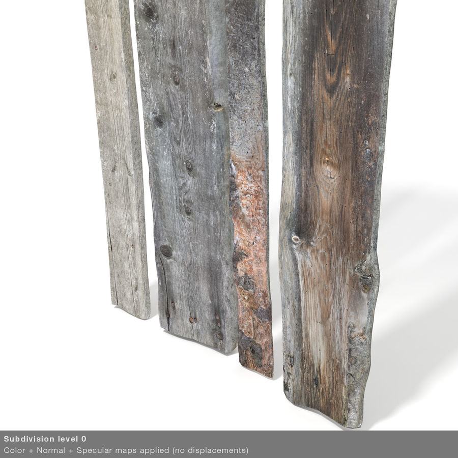 Weathered Planks royalty-free 3d model - Preview no. 34