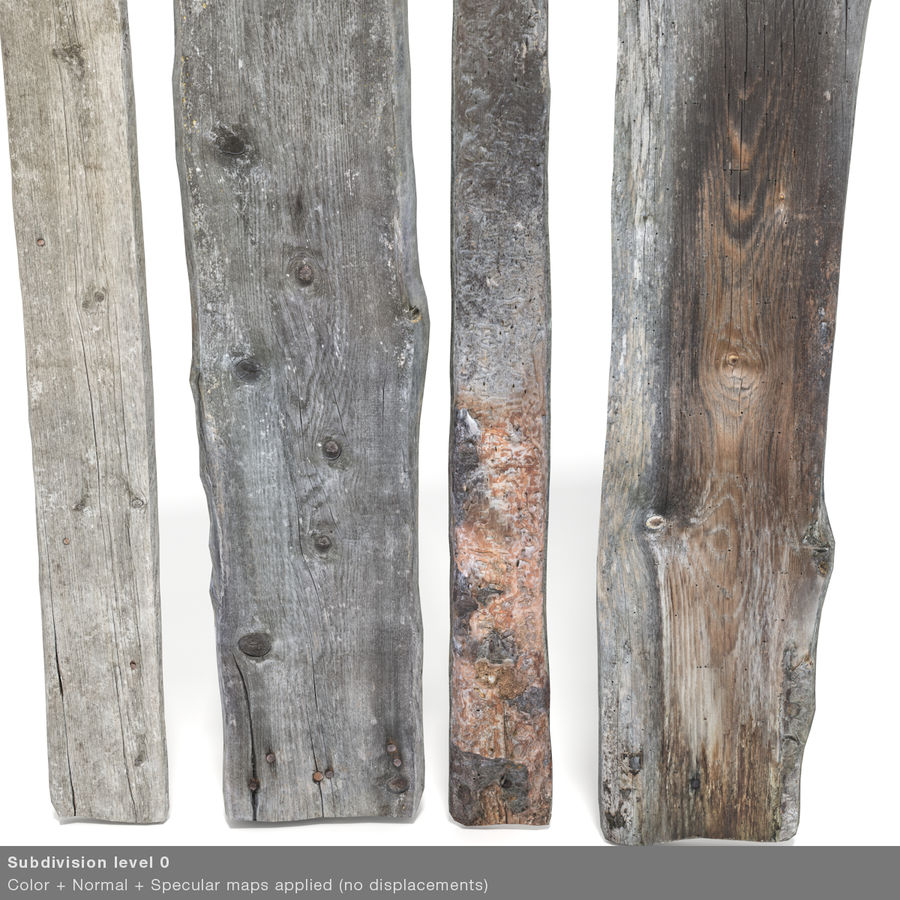 Weathered Planks royalty-free 3d model - Preview no. 29