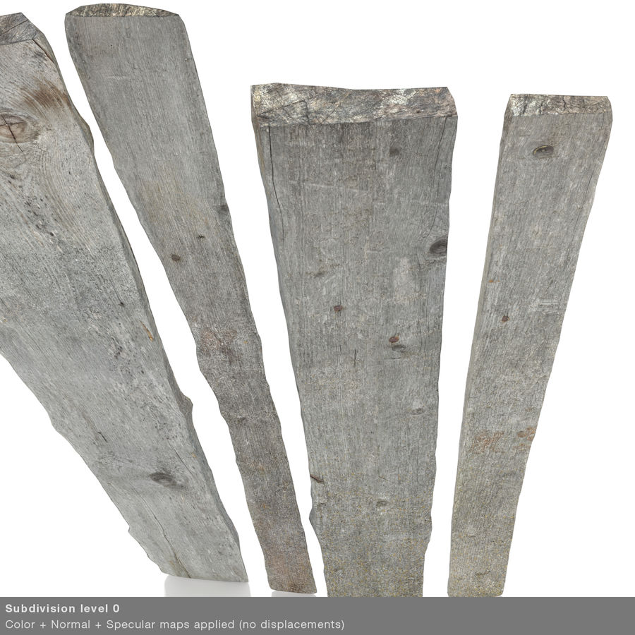 Weathered Planks royalty-free 3d model - Preview no. 40
