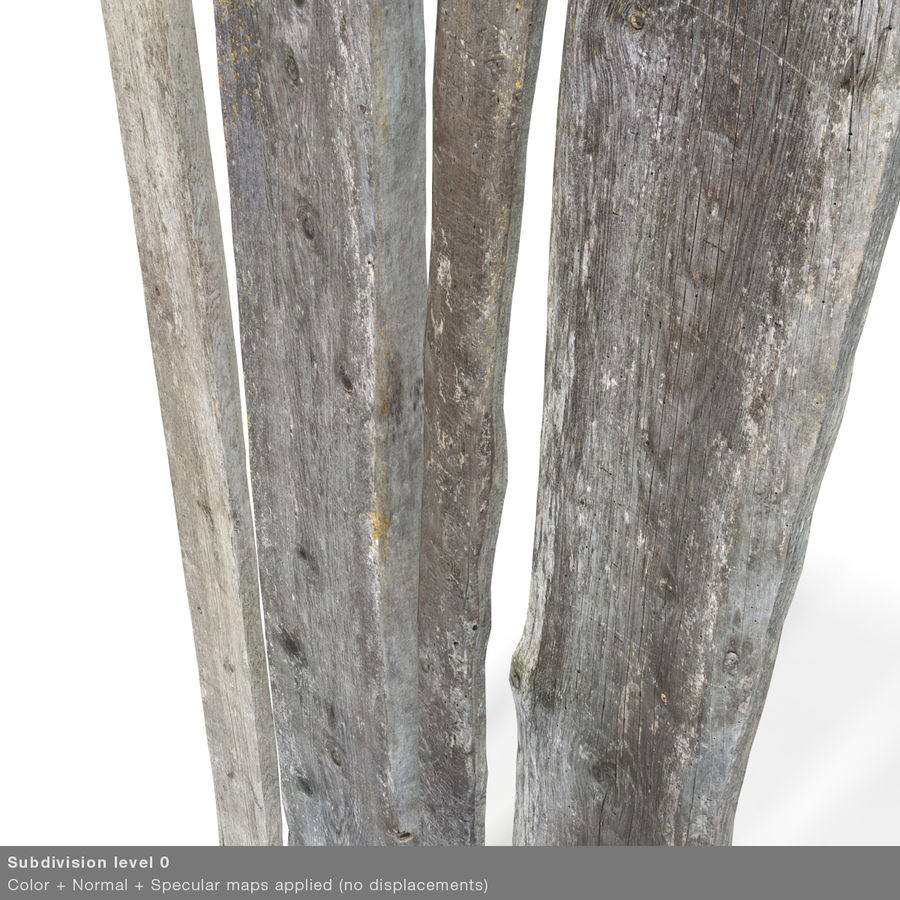 Weathered Planks royalty-free 3d model - Preview no. 36