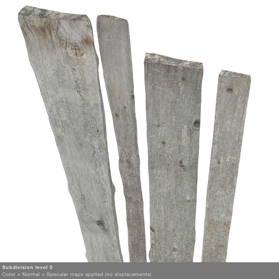 Weathered Planks royalty-free 3d model - Preview no. 31