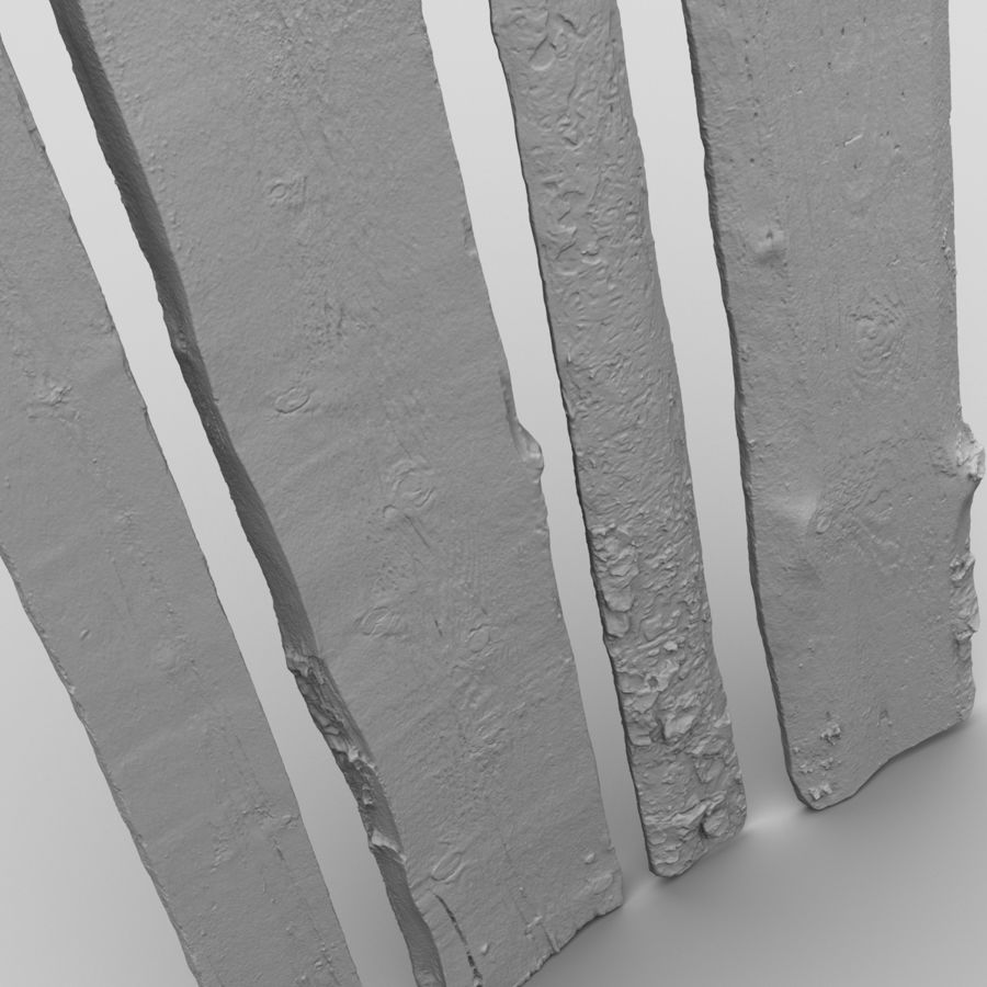 Weathered Planks royalty-free 3d model - Preview no. 22