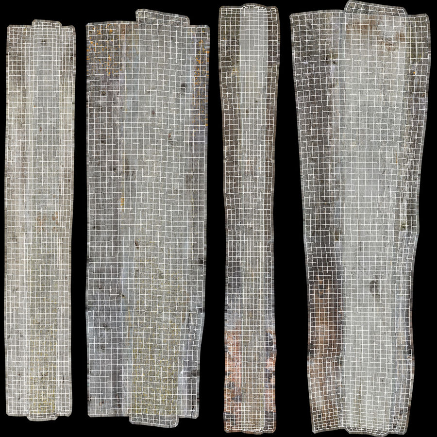 Weathered Planks royalty-free 3d model - Preview no. 53