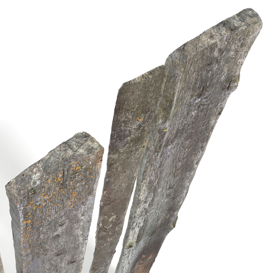 Weathered Planks royalty-free 3d model - Preview no. 13