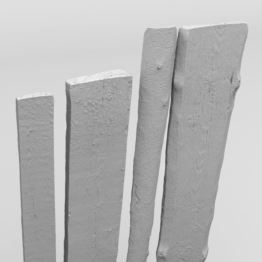 Weathered Planks royalty-free 3d model - Preview no. 17