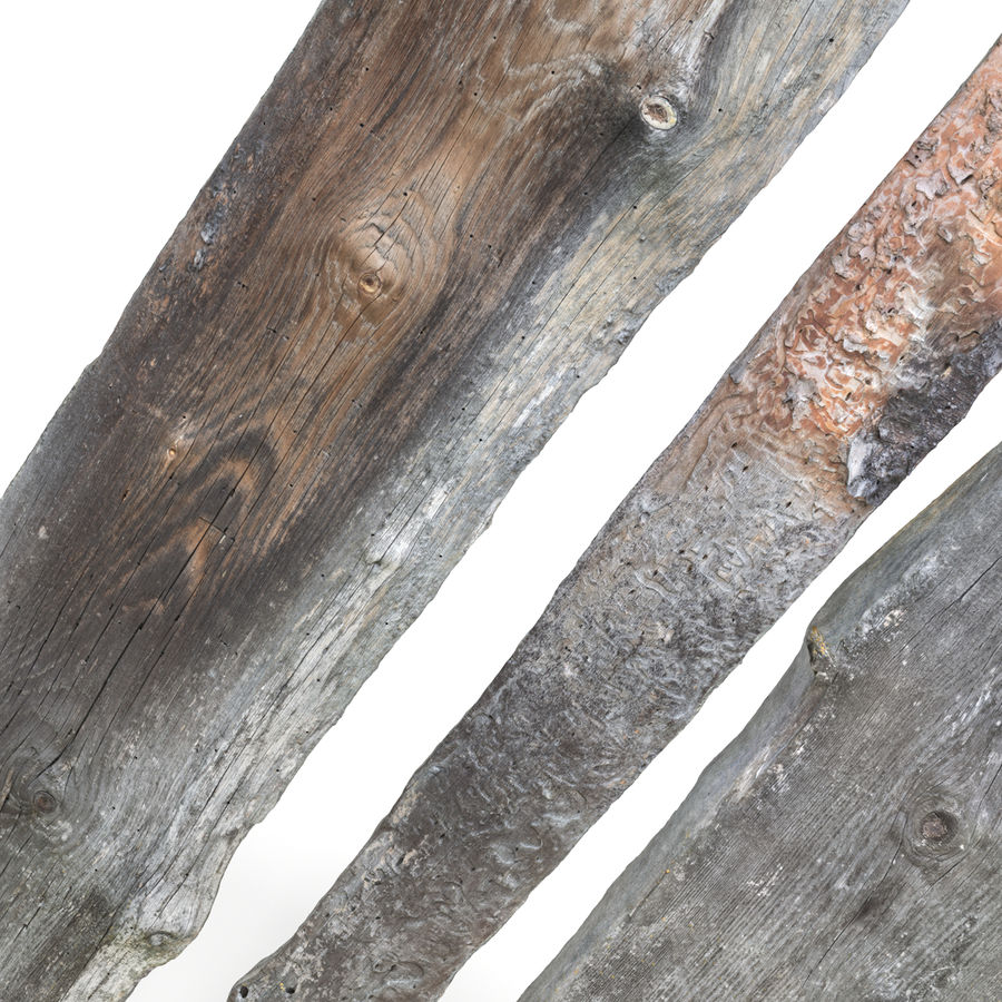 Weathered Planks royalty-free 3d model - Preview no. 3