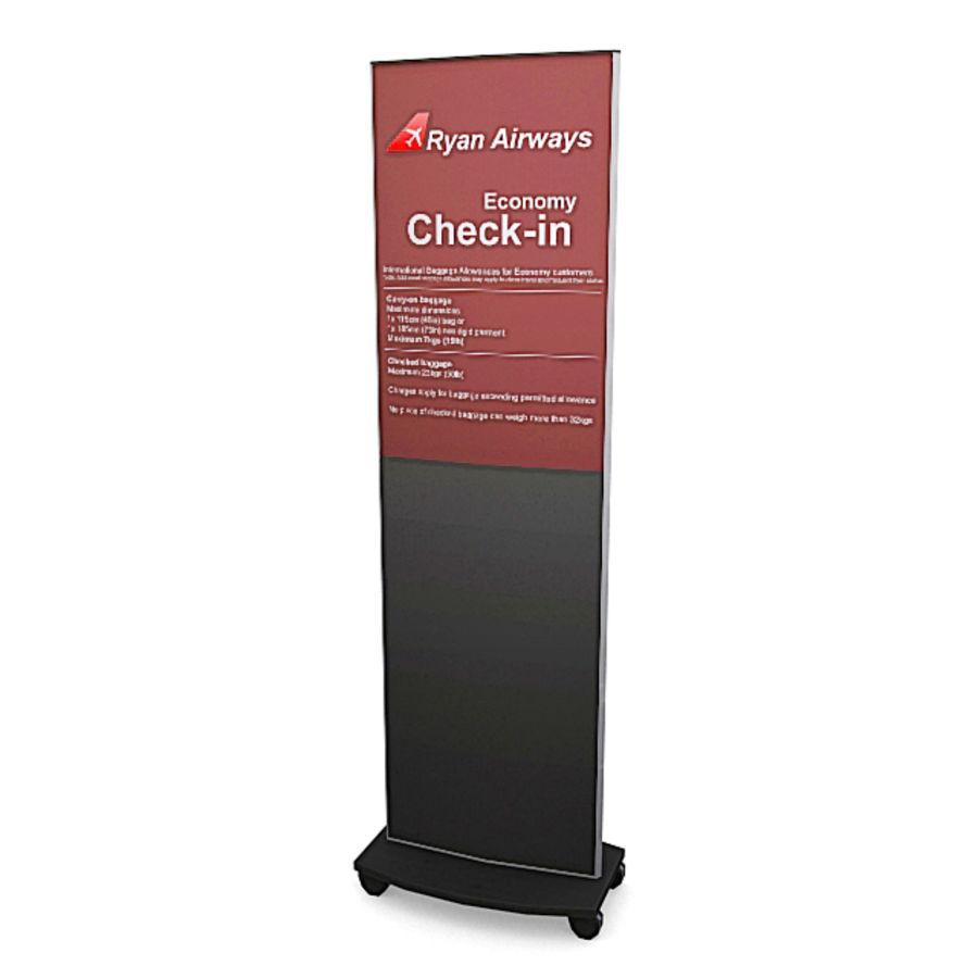 Пакет мебели для аэропорта 1 royalty-free 3d model - Preview no. 6