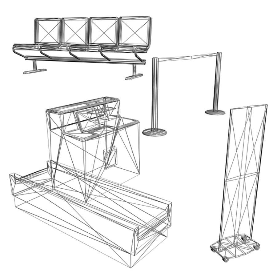 Пакет мебели для аэропорта 1 royalty-free 3d model - Preview no. 8