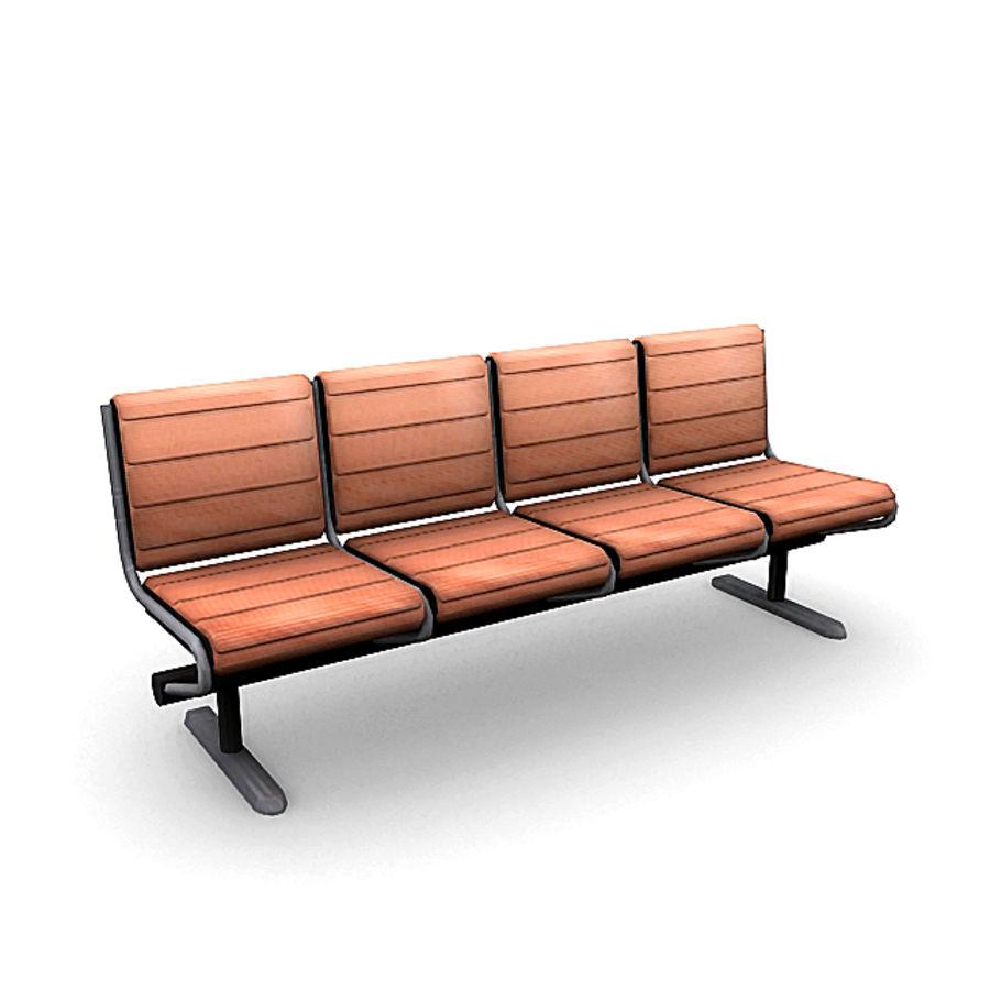 Пакет мебели для аэропорта 1 royalty-free 3d model - Preview no. 7