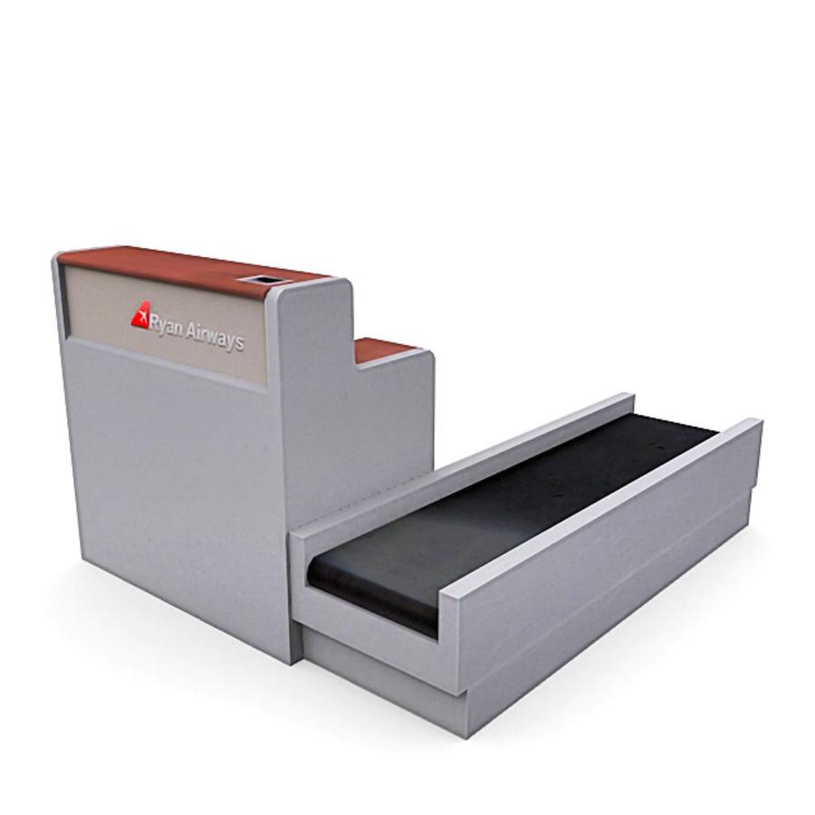 Пакет мебели для аэропорта 1 royalty-free 3d model - Preview no. 2