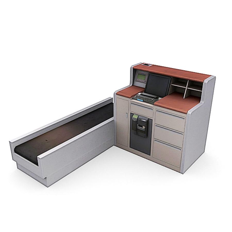Пакет мебели для аэропорта 1 royalty-free 3d model - Preview no. 3
