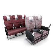 Aircraft Seating 1 3d model