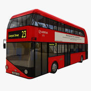 new london bus 3d model
